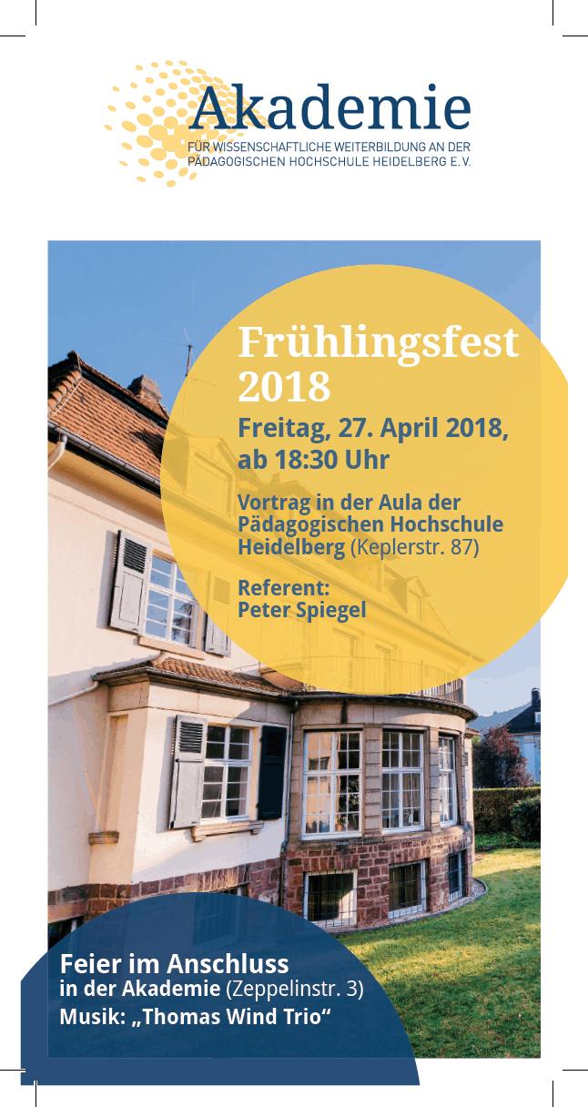Fr hlingsfest mit peter spiegel am 27 april 18 30 uhr for Spiegel 09 2018